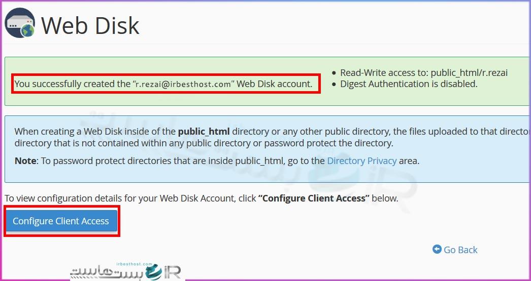 ساخت اکانت وب دیسک